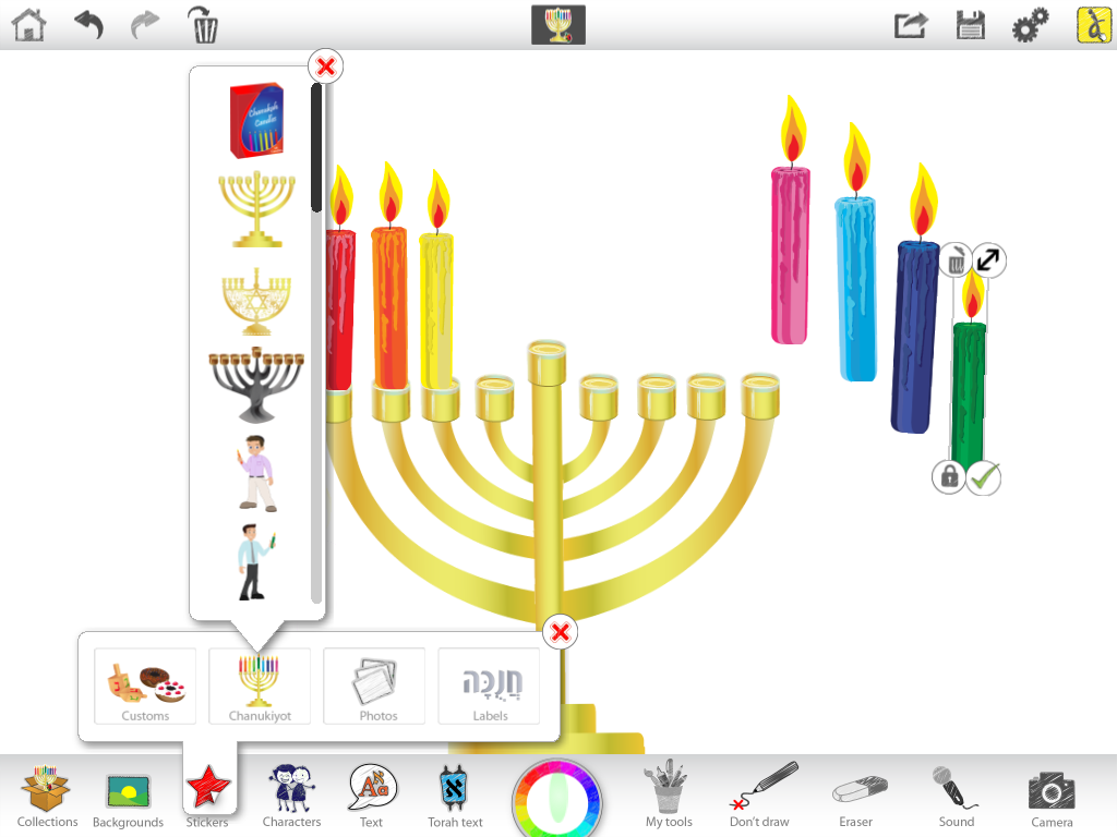 Great Ideas For Chanukah Using Ji Studio Jewish Interactive Menorah Lighting Diagram Candles Into
