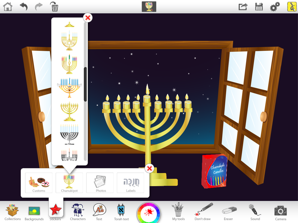 Great Ideas For Chanukah Using Ji Studio Jewish Interactive Menorah Lighting Diagram Choose A Sticker