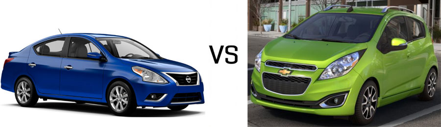 Nissan versa vs chevy spark