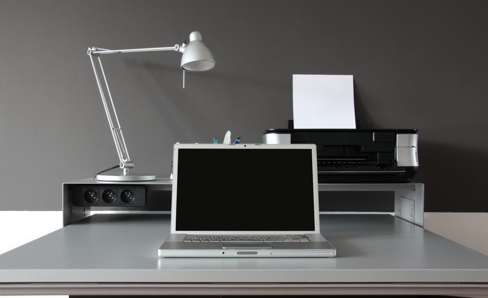 Image of laptop on desk