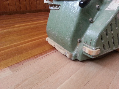 Dustless hardwood floor sanding