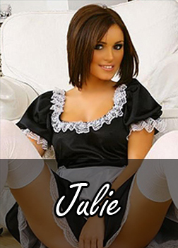 Julie, brunette maid.
