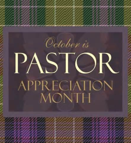 October Pastor Appreciation