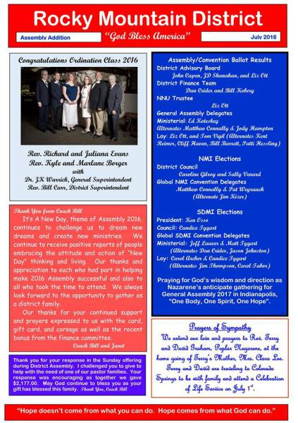 District Assembly Newsletter