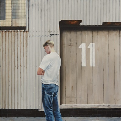 Boy Outside Nr. 11, 2015, $5.500, Acrylic on Canvas, 102 x 102cm