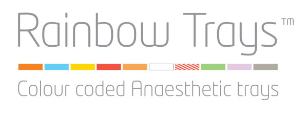 Rianbow Trays colour coded anaesthetic trays