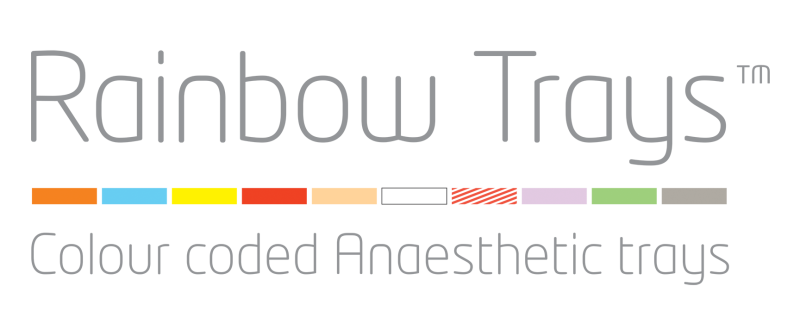 Rainbow Trays, colour coded anaesthetic trays