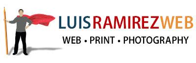 Luis Ramirez logo, it links to the homepage