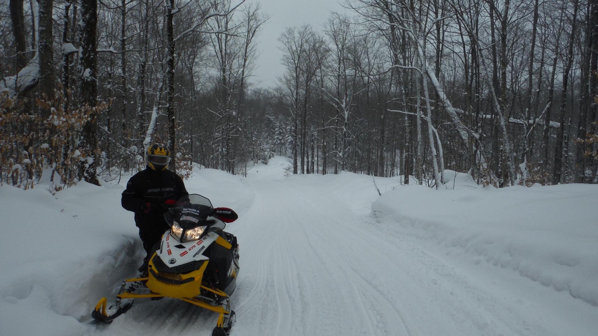 Gary snowmobiling