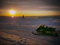 Snowmobile At lake Ontario