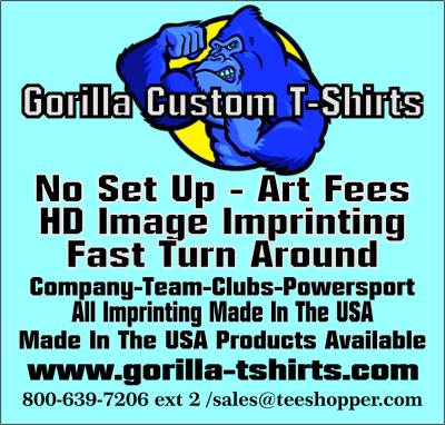 Gorilla Custom T-Shirts banner