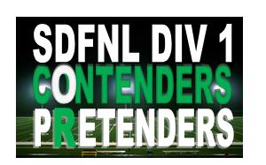SDFNL D1 Contenders or Pretenders