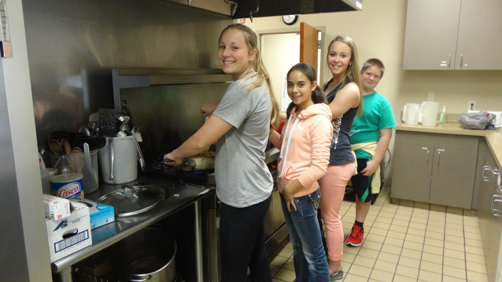 Volunteers Helping in Kitchen