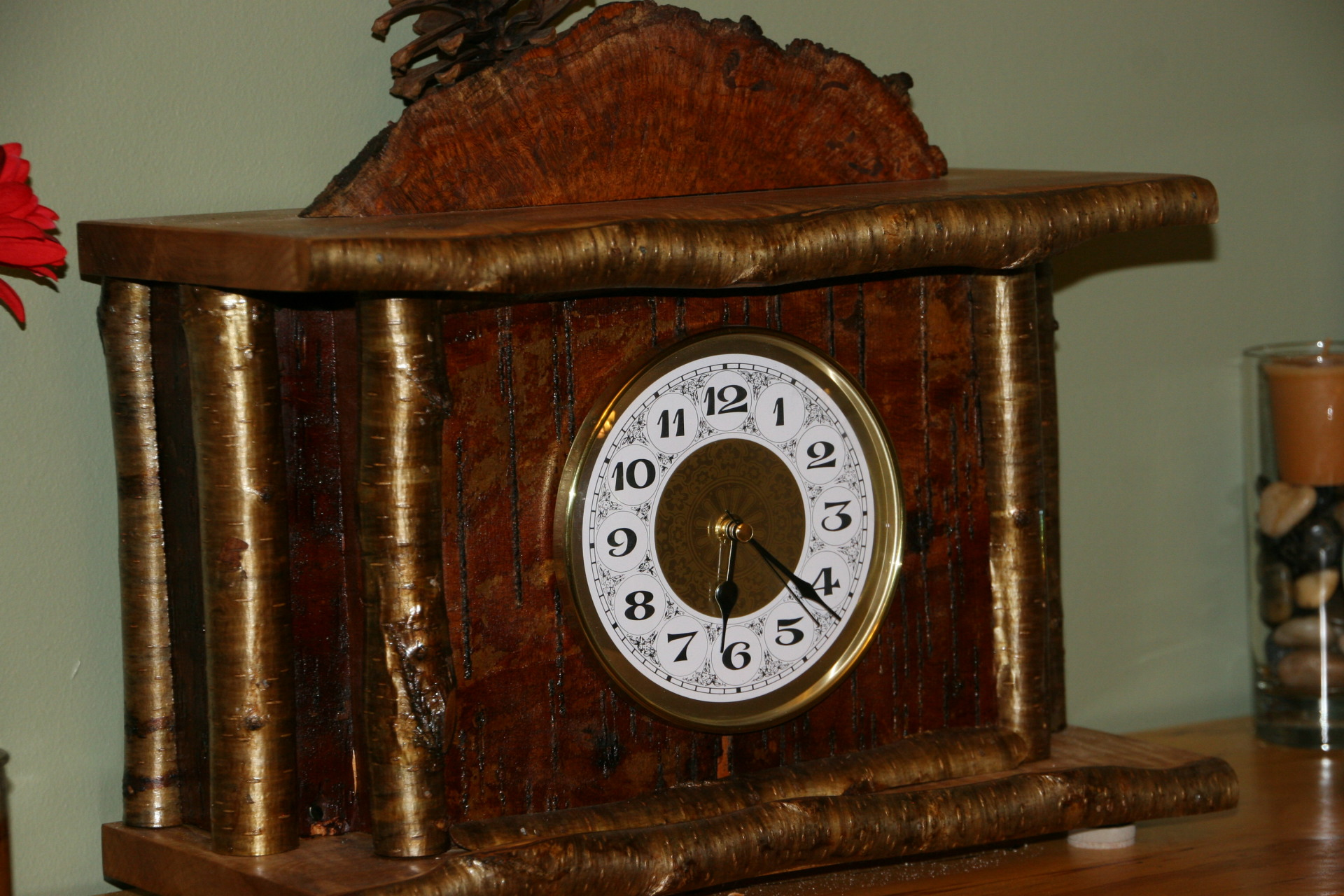 Rustic Clock with a twist - Cremation box discretely placed in bottom