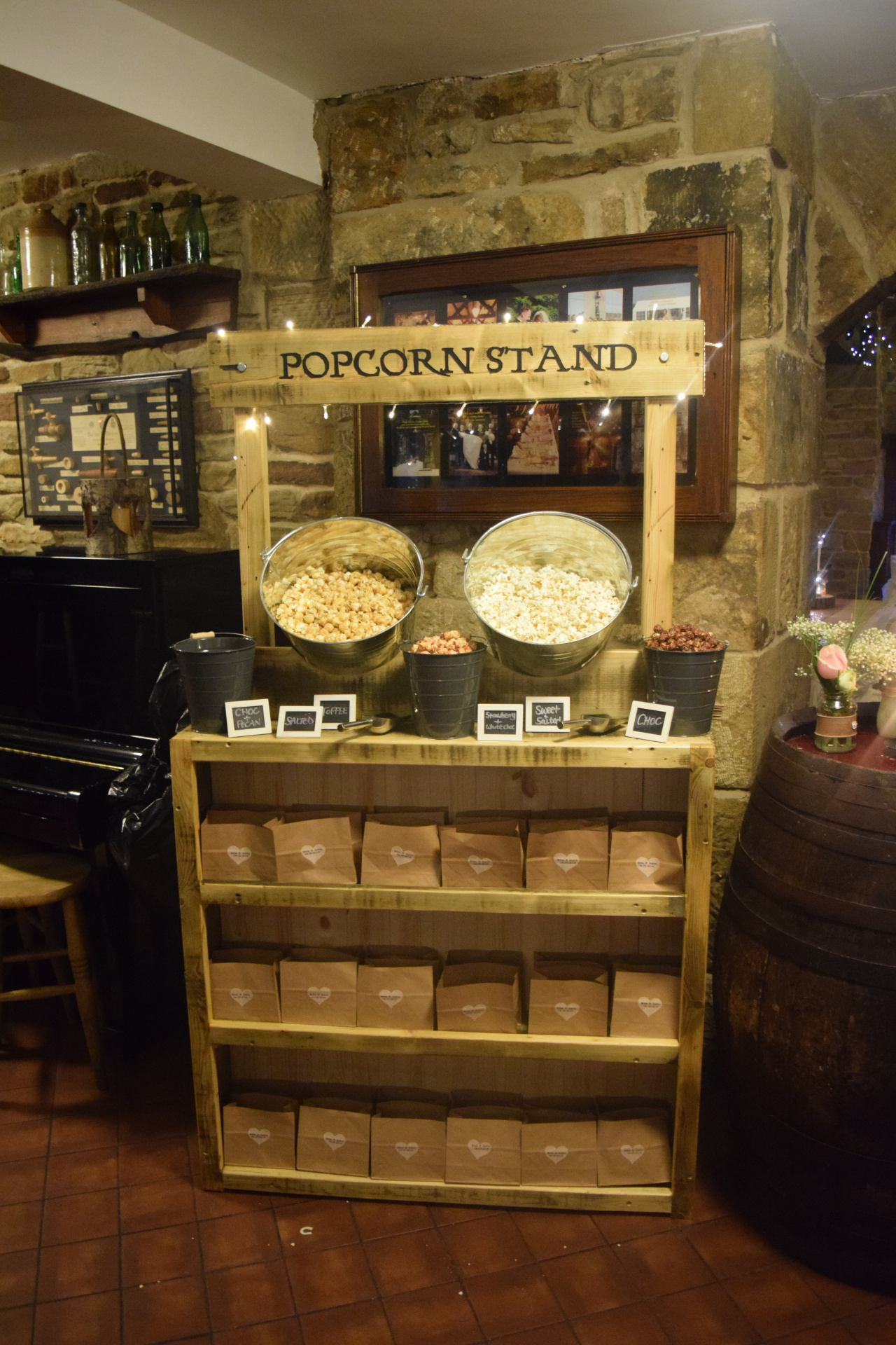 Popcorn Stand hire - give your guests the new sweet table!