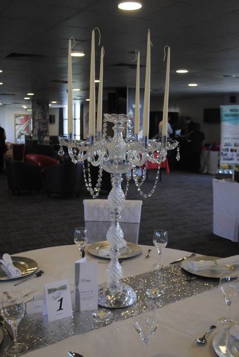 Stunning new Crystal Candelabra hire