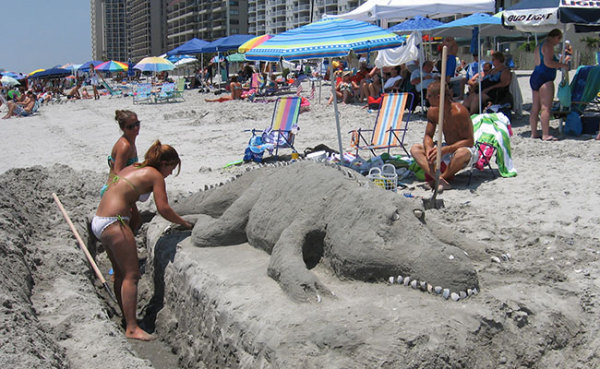 Sand-Alligator-Daytona-Beach
