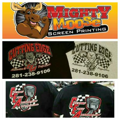 Cutting Edge Automotive- Screen Print and Direct Garment