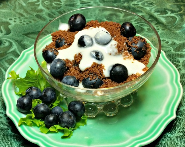 Blueberry and Chocolate Parfait