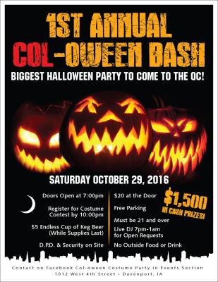 1st Annual Col Oween Bash