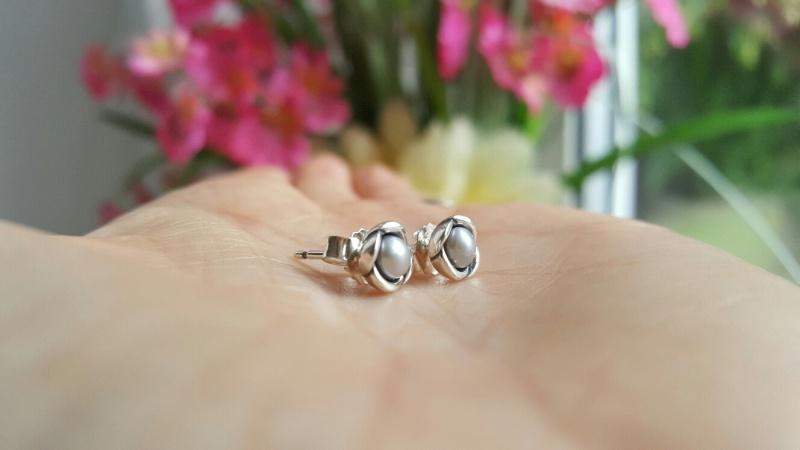 Pandora Freshwater Pearl Earrings