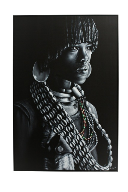 Tribal warrior painting