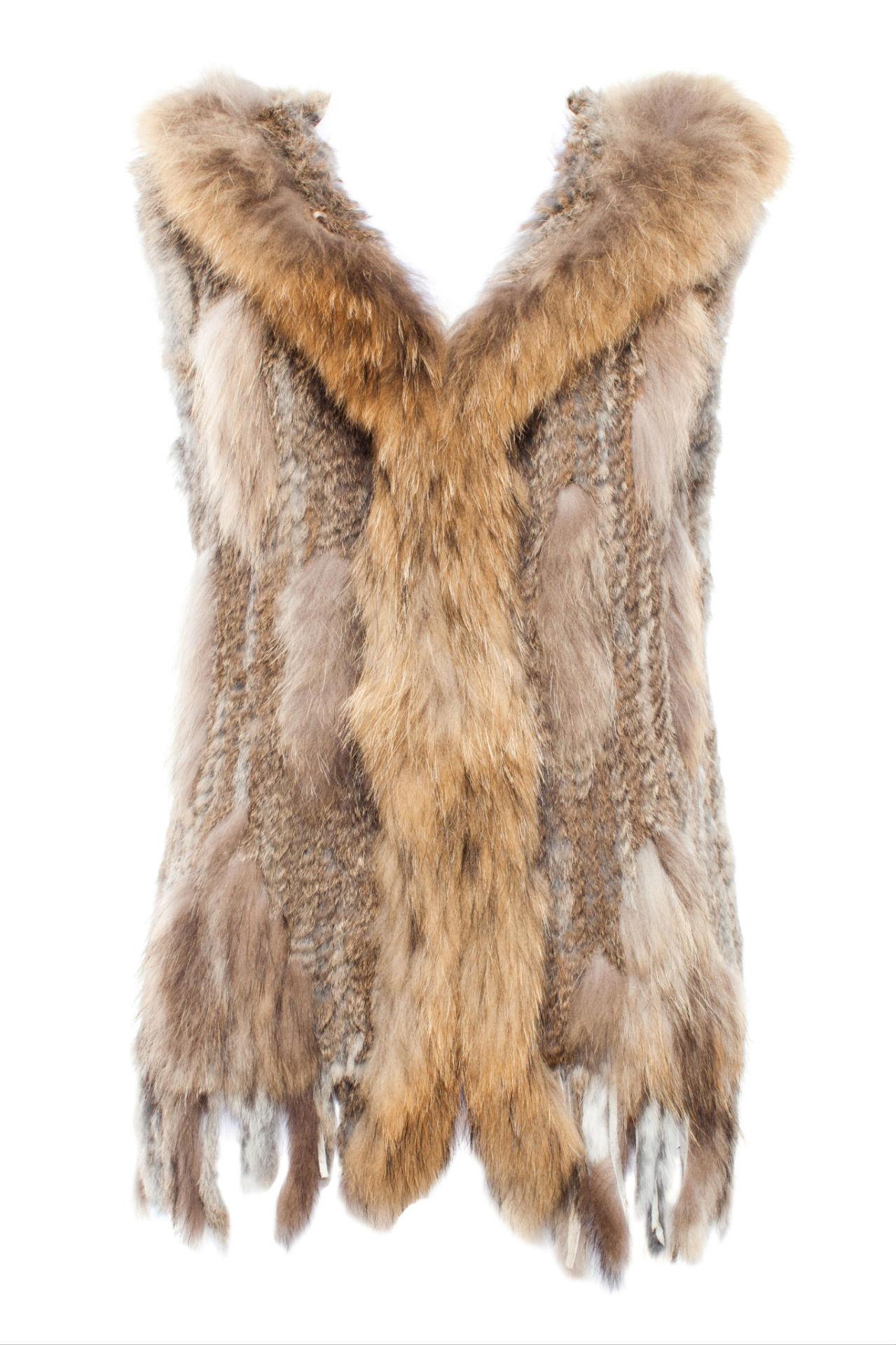Large vest vest with hood