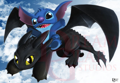 Stitch & toothless