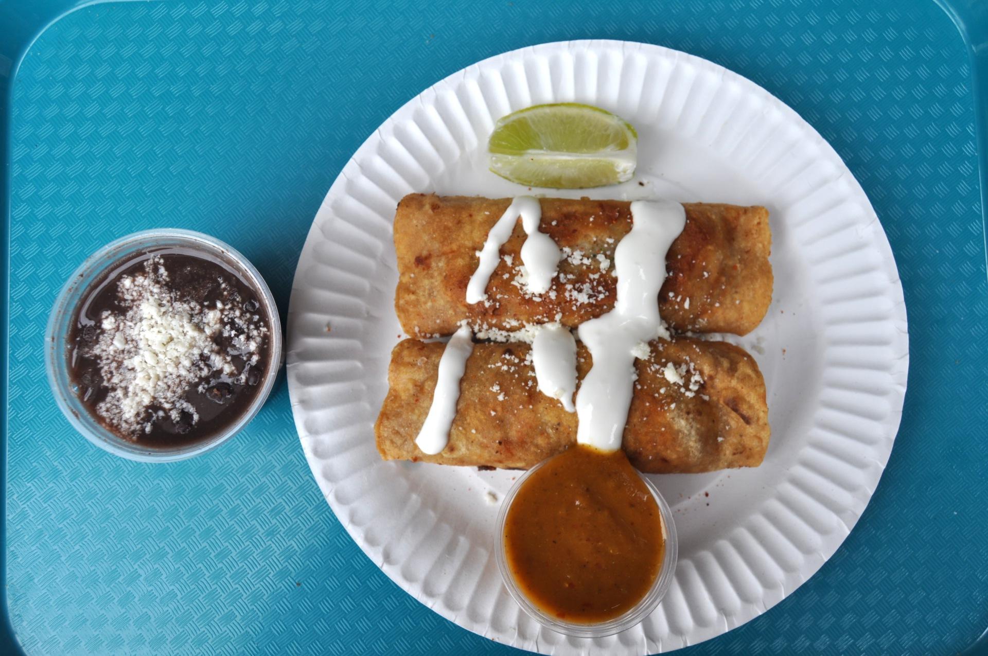 Vegetarian Fried Taquitos