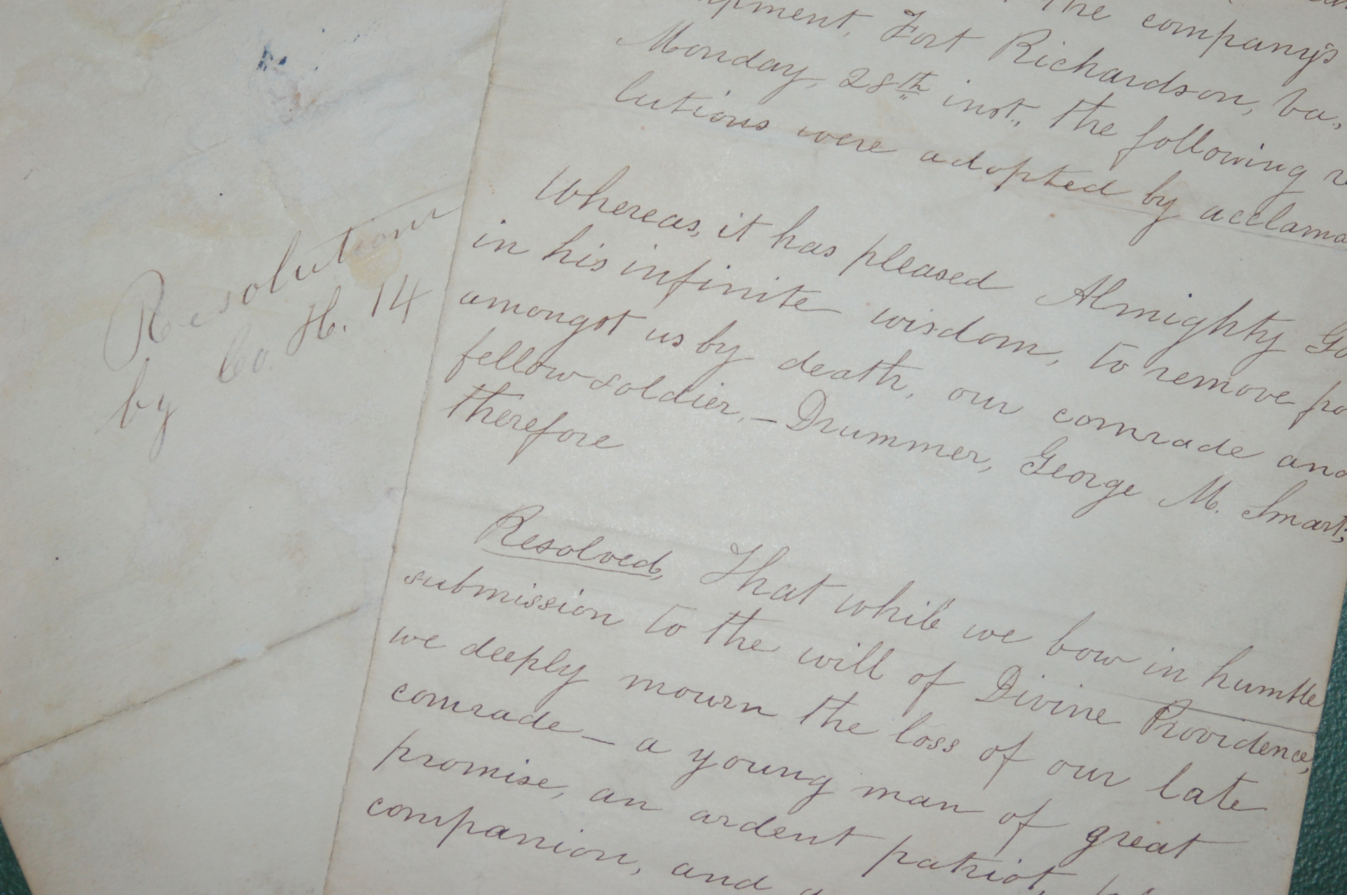 civil war letter andover