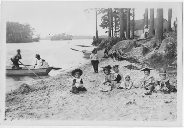 Andover Haggetts Pond Bailey's Grove children on beach