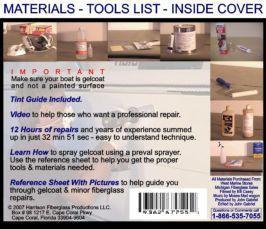 Fiberglass repair instructions