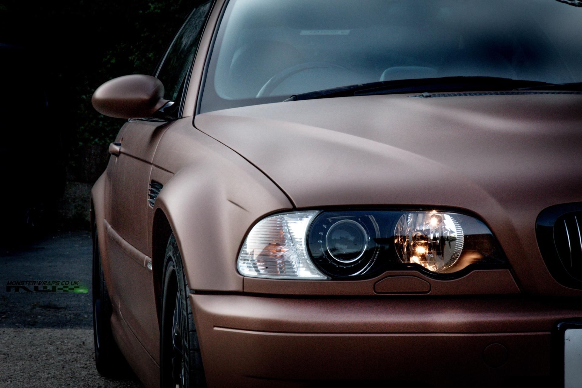 Bmw M3 E46 Wrap 3m 1080 Matte Brown Metallic Wrap