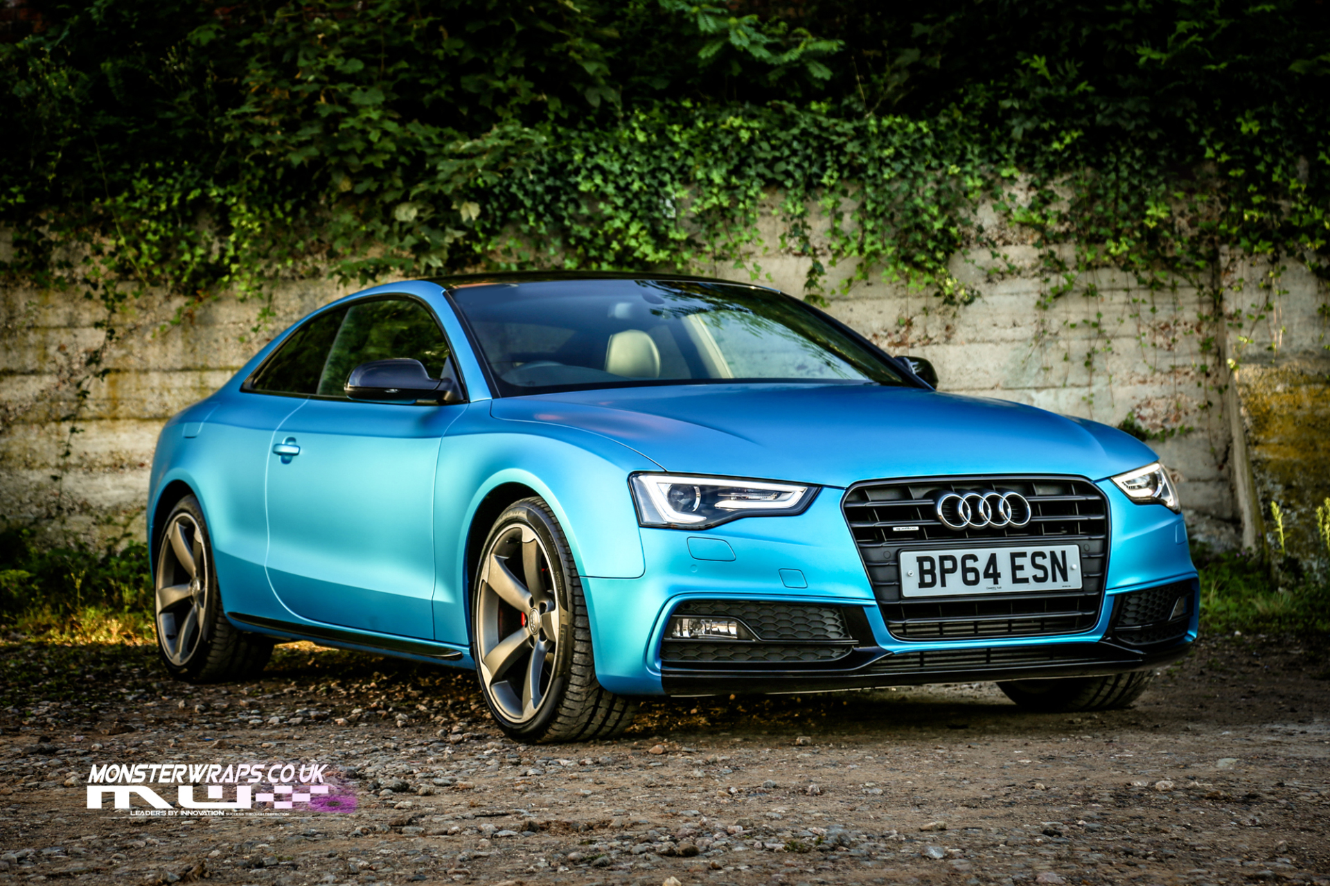 Audi A5 Satin Ocean Shimmer Blue Full Wrap Monsterwraps