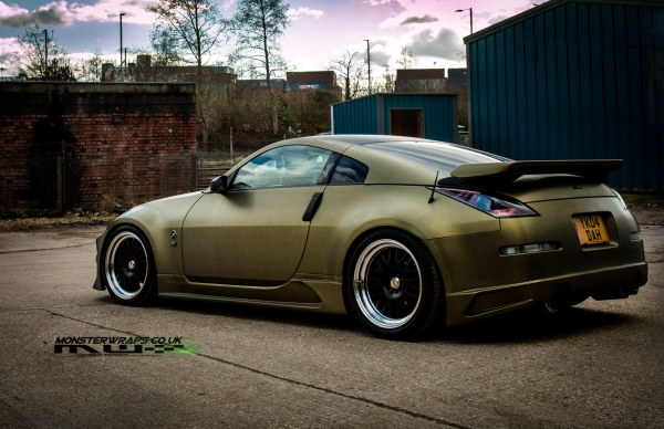 Nissan 350z Brushed Army Gold Full Wrap