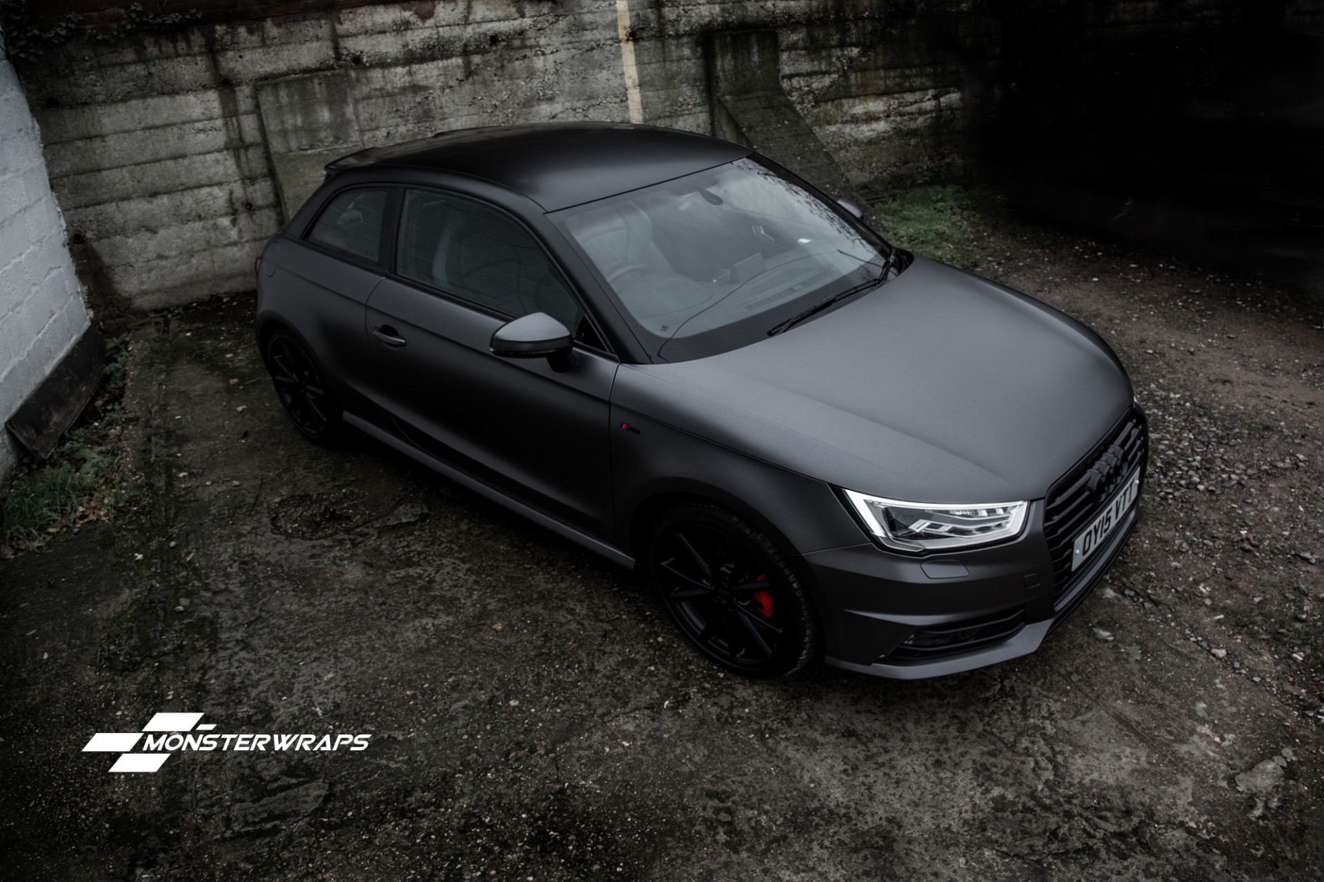 Audi A1 Tsfi Satin Dark Grey And Satin Black Full Wrap