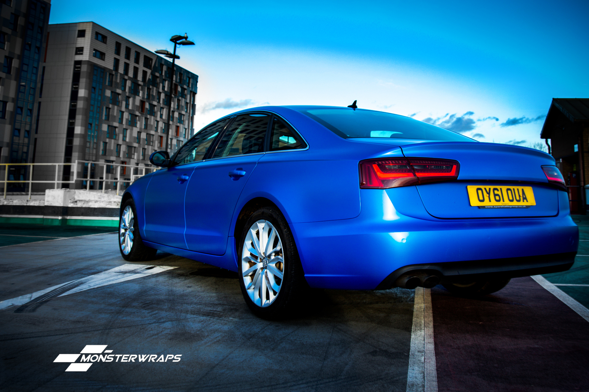 Audi A6 Satin perfect blue full wrap