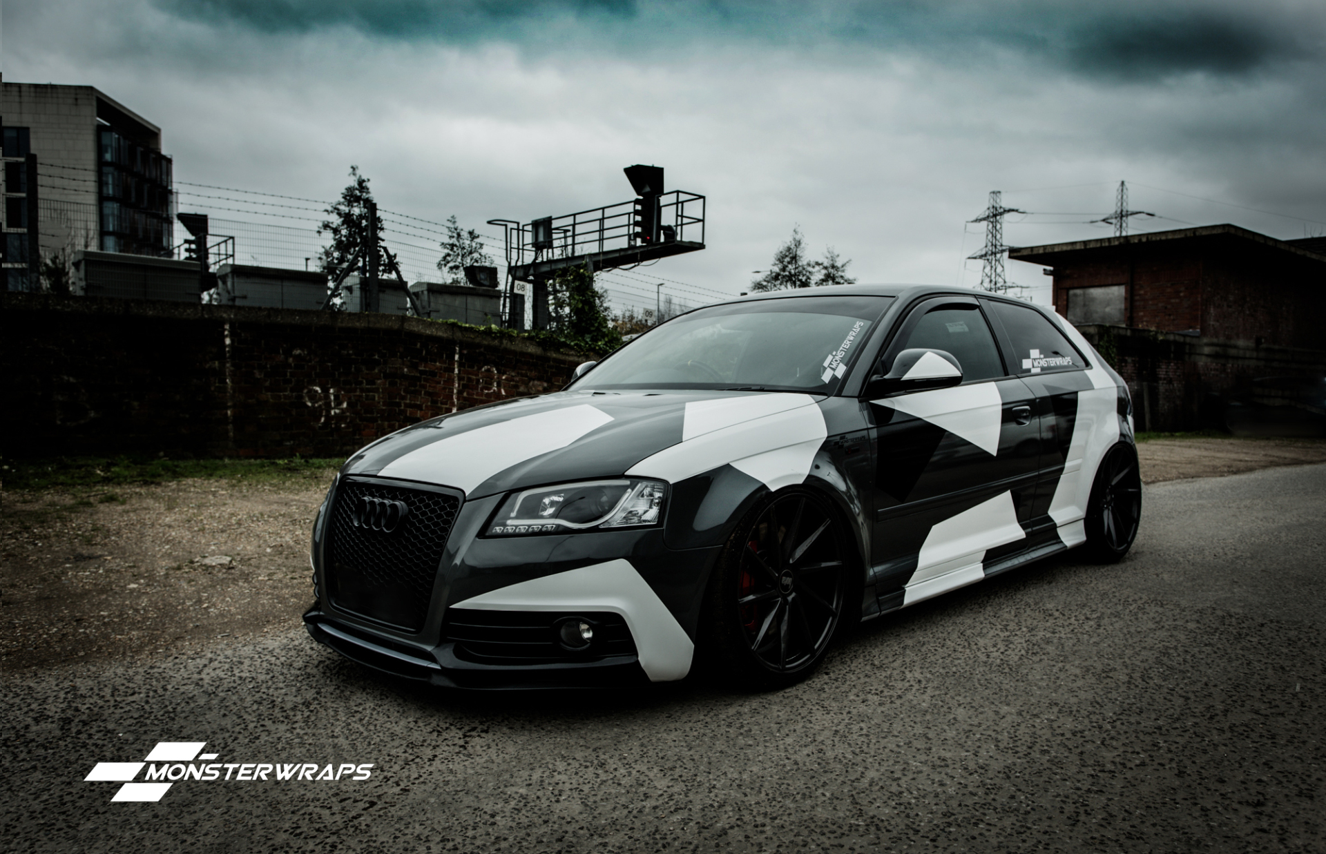Audi Car Images >> Audi A3 Stealth Grey camo wrap