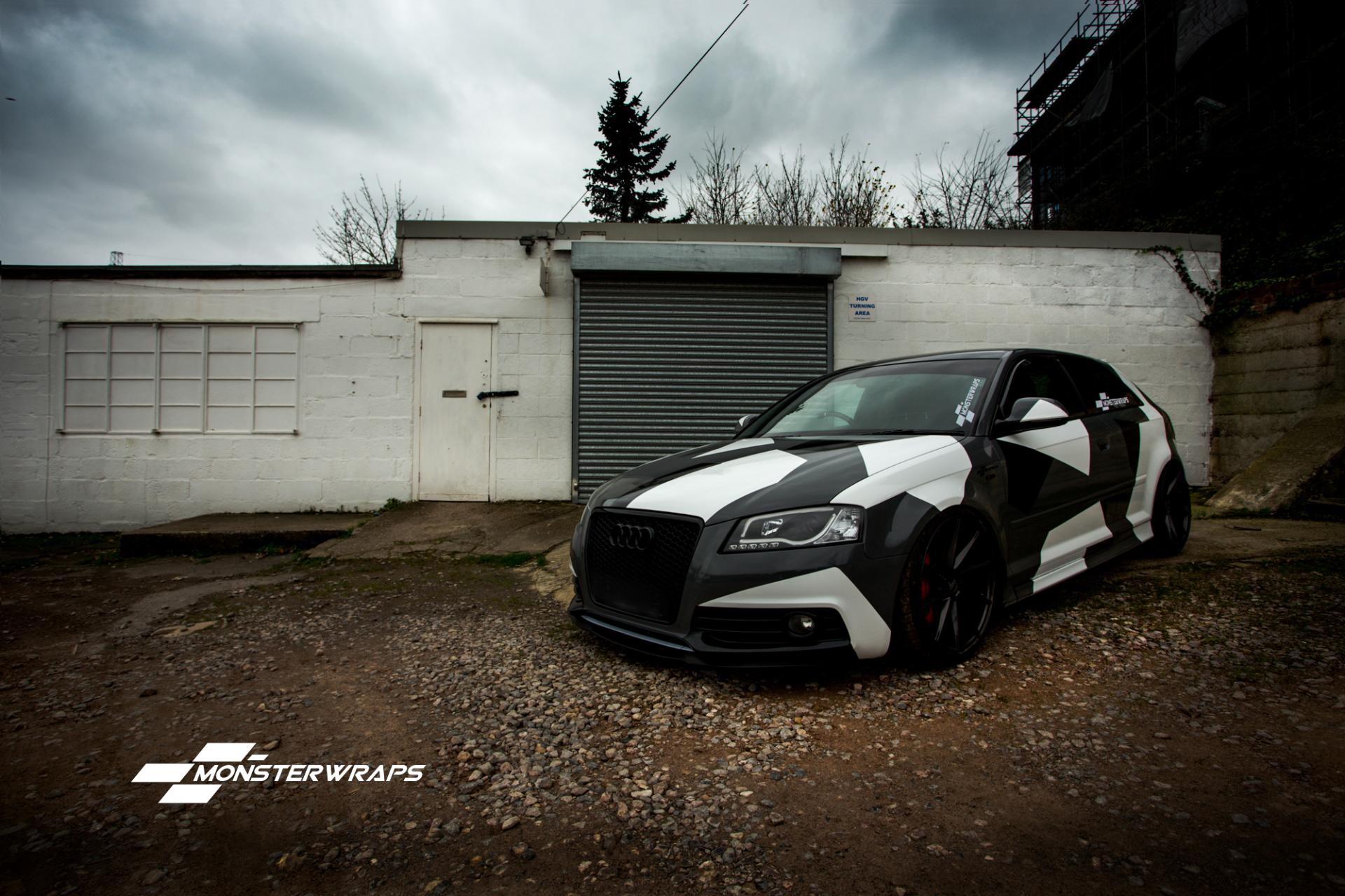 Audi A3 Stealth Grey Camo Wrap