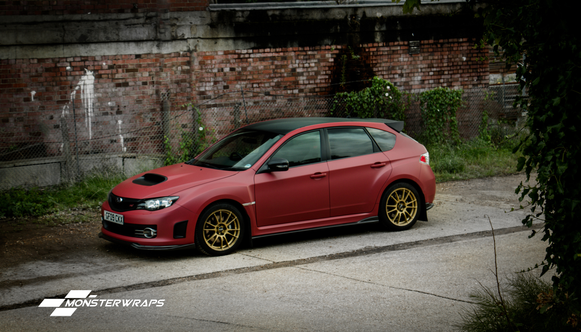 Subaru Impreza Wrx Matte Metallic Red Full Wrap