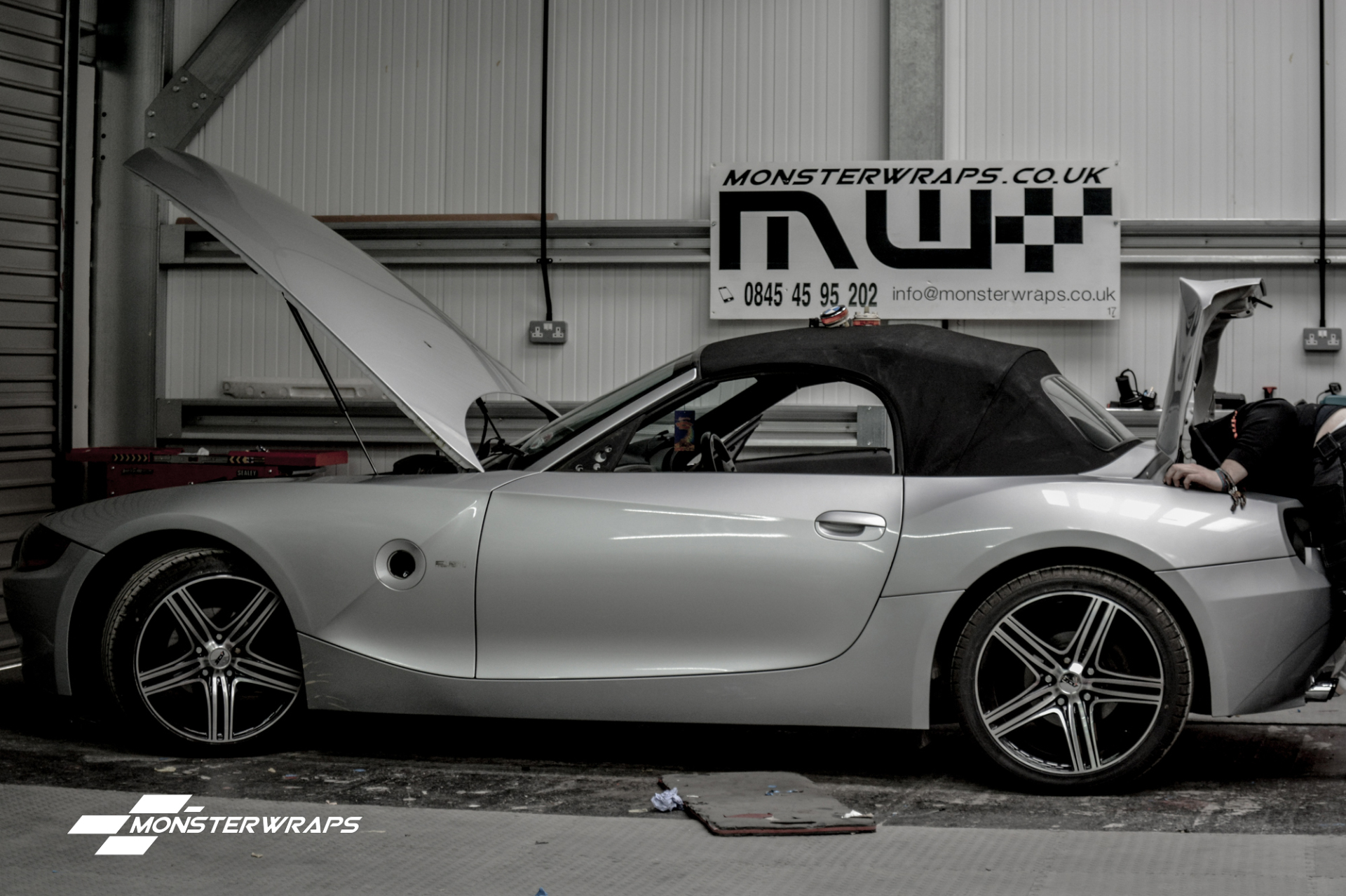 Bmw Z4 Matte Metallic Blue Wrap