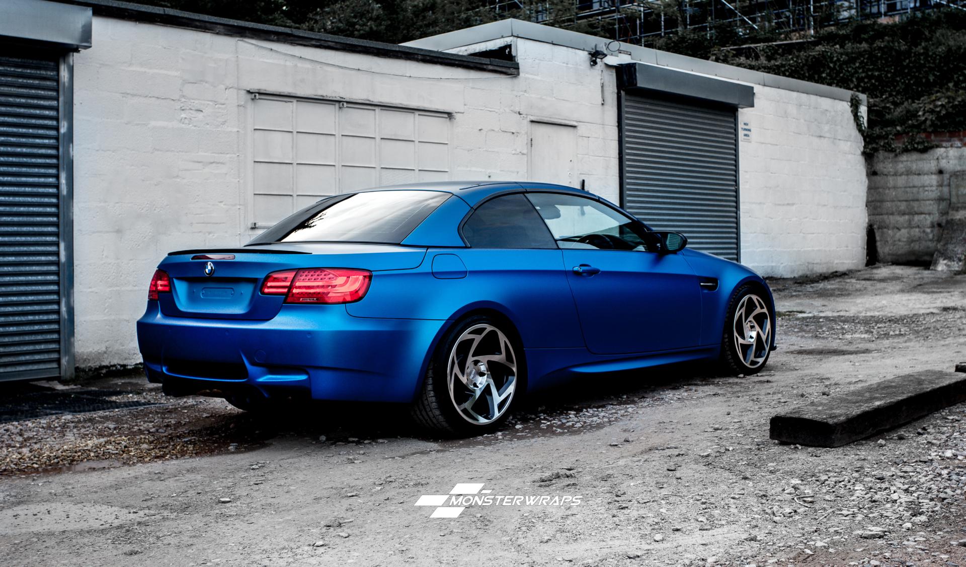 Bmw M3 Matte Metallic Blue Wrap