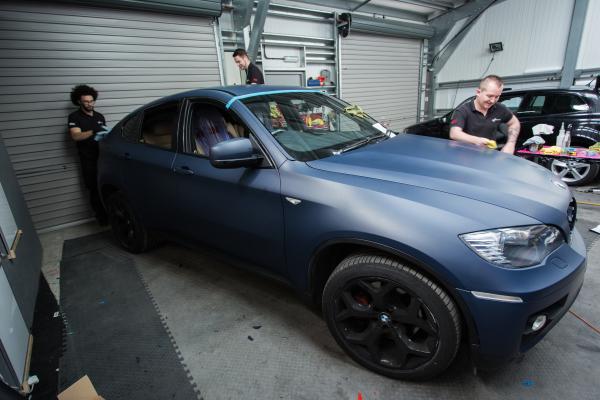 Ceramic Car Wax >> BMW X6 Matte blue navy wrap