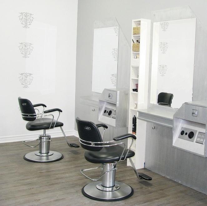 Salon service area at Envision Hair Studio