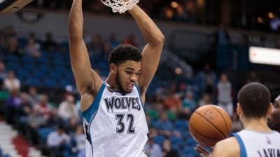 Karl Towns nombrado novatos del mes en la NBA
