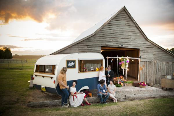Vintage caravan, kelvin estate, wedding stylist, props hire