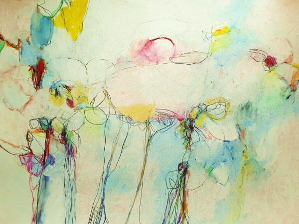 abstract,art,painting,mixed media, mary ann wakeley, colorful,colors,lines,symphony