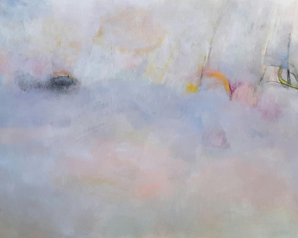 abstract,art,painting,mixed media,mary ann wakeley,blue,pink,soft,serene