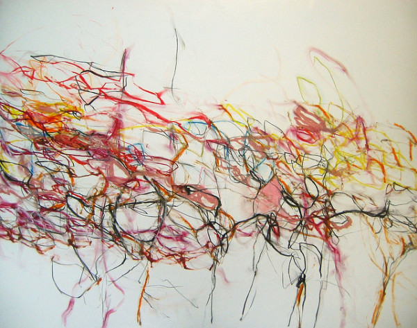 abstract,art,painting,mixed media,mary ann wakeley,color,colorful,streaming,strands,wind,freedom