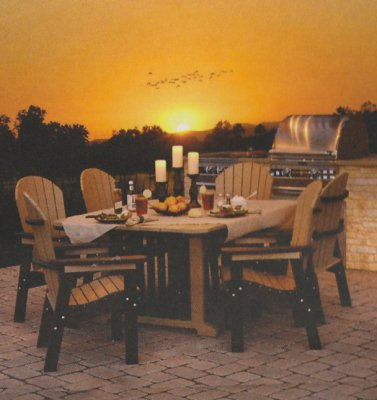 Amish madeOutdoor dining furniture